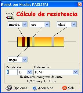 Programa para el Calculo de Resistencias